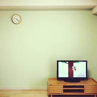 テレビボード/時計/ニトリ/北欧ナチュラル/北欧...などのインテリア実例 - 2020-03-26 11:28:33