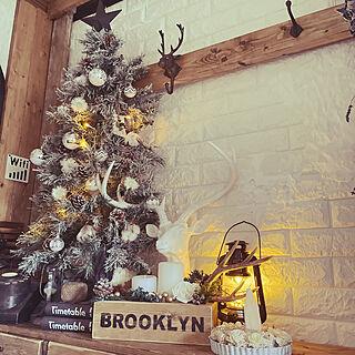 クリスマス/クリスマスツリー/DIY/鹿の角/青森市...などのインテリア実例 - 2020-11-21 15:24:03