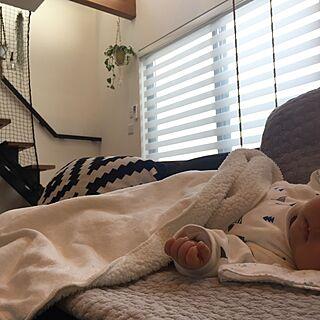 部屋全体/吹き抜け/IKEA/赤ちゃんのいる暮らし/ソファ...などのインテリア実例 - 2017-01-07 11:58:12