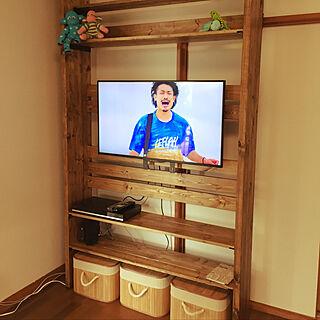 棚/テレビ台DIY/DIY家具/DIY女子/DIY...などのインテリア実例 - 2018-09-29 20:20:52