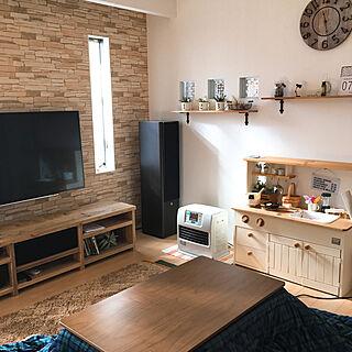 女性36歳の家族暮らし、テレビに関するmakiさんの実例写真