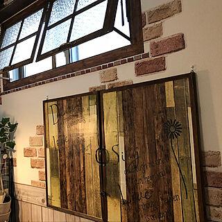 男性家族暮らし3LDK、セリア窓枠に関するtomoさんの実例写真