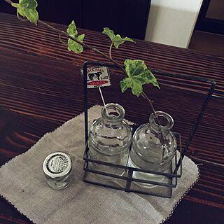 キッチン/テーブル上/花器/植物/ガラス瓶...などのインテリア実例 - 2017-07-09 08:24:38