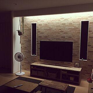 女性36歳の家族暮らし、壁掛け扇風機に関するmakiさんの実例写真
