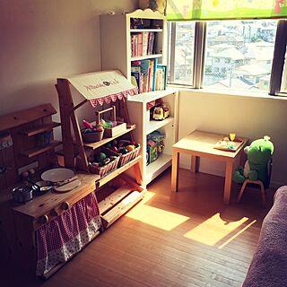 棚/女の子の部屋/幼稚園児の部屋/IKEA/手作りままごとキッチン/part1...などのインテリア実例 - 2015-05-29 20:04:31