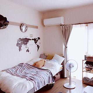 女性24歳の一人暮らし1K、ねむいに関するsokogiさんの実例写真