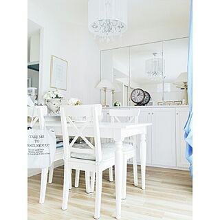 リビング/IKEA/シャンデリア/エレガント/ガーリー...などのインテリア実例 - 2015-08-16 14:36:40