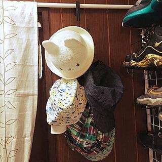 女性26歳の家族暮らし2DK、帽子掛けに関するryuryuさんの実例写真