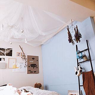 女性26歳の一人暮らし1K、シアーカーテンに関するioさんの実例写真
