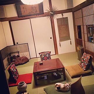 刺繍のカバー/コンテスト参加中/Tatami/畳/DIY...などのインテリア実例 - 2015-06-16 15:10:31