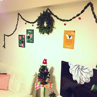 部屋全体/ガーランド/リース作りました/クリスマスツリー☆/マリメッコ...などのインテリア実例 - 2013-11-21 06:01:20