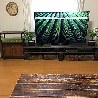 女性家族暮らし3DK、テレビボード扉DIYに関するmin2413さんの実例写真