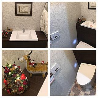 男性49歳の家族暮らし3LDK、トイレのディスプレイに関するshouさんの実例写真