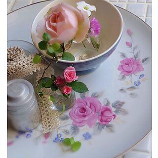 机/レトロ/昭和食器/薔薇/ミニバラ...などのインテリア実例 - 2014-05-03 08:18:06
