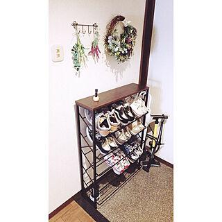 女性家族暮らし2LDK、靴収納に関するTomoさんの実例写真
