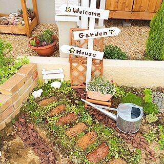 女性、ガーデンサインに関するmini_archさんの実例写真