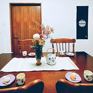台所/カリモクコロニアル/切り菊/和菓子/菊...などのインテリア実例 - 2020-09-09 19:28:05