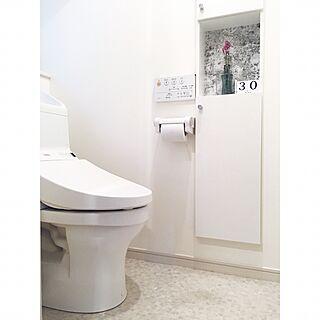バス/トイレ/超シンプル/トイレ/TOTO/いいね&フォローありがとうございます☆...などのインテリア実例 - 2017-06-30 16:59:22