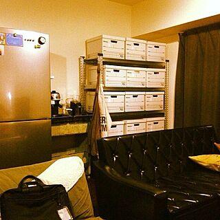 部屋全体/かりもく60/JSF/冷蔵庫/バンカーボックス...などのインテリア実例 - 2014-07-28 21:26:16