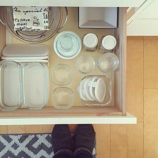 キッチン/保存容器/iwakiのガラス容器/IWAKI/キッチン収納...などのインテリア実例 - 2017-01-19 12:53:36