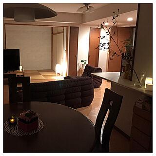 部屋全体/間接照明/観葉植物/お花のある暮らし/グリーンのある暮らし...などのインテリア実例 - 2017-08-29 22:28:02