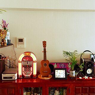 リビング/デジタルフォト/CDコンポ/男前/ウクレレ...などのインテリア実例 - 2016-05-09 21:43:42