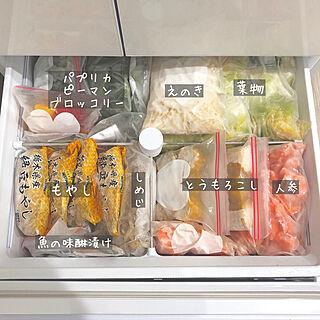 女性30歳の家族暮らし4LDK、冷凍庫に関するmariiiiさんの実例写真