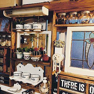 キッチン/キッチン棚DIY/キッチン収納/ステンシル/DIY...などのインテリア実例 - 2017-05-28 17:17:05