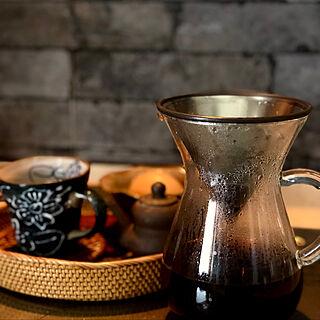キッチン/アジアン雑貨/アタのおぼん/アイスコーヒーが好き♪/hiroチャンからの貰ったカップ/ステンレスフィルター...などのインテリア実例 - 2019-02-03 13:37:41