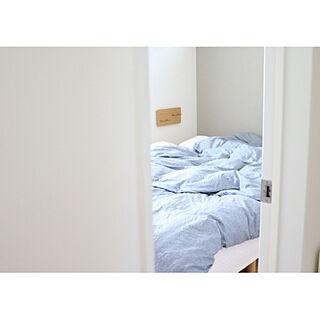 女性33歳の家族暮らし4LDK、無印ベッドリネンに関するamaotoさんの実例写真