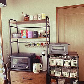 ワイヤーシェルフ/チェストラック/ライオンコーヒー/コーヒーのある暮らし/キッチン...などのインテリア実例 - 2021-02-13 11:29:40