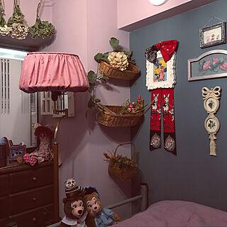 壁/天井/古いマンション/アンティーク風/アメリカンカントリー/壁のセルフペイント...などのインテリア実例 - 2018-07-11 14:25:53
