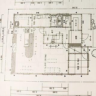 部屋全体/図面/マイホーム/1F/新築建設中...などのインテリア実例 - 2017-06-11 21:55:00