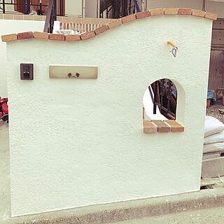 玄関/入り口/レンガ/ホワイト/ベルアート/塗装仕上げ...などのインテリア実例 - 2018-02-09 23:03:33