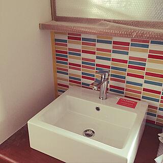 女性44歳の家族暮らし、洗面台に関するlovemin05さんの実例写真