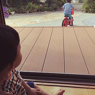 玄関/入り口/平和な風景/えんがわ/自転車/にわ!のインテリア実例 - 2018-10-08 09:34:37