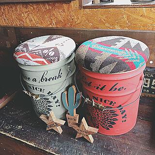 女性家族暮らし、ペール缶フタに関するrodeoさんの実例写真