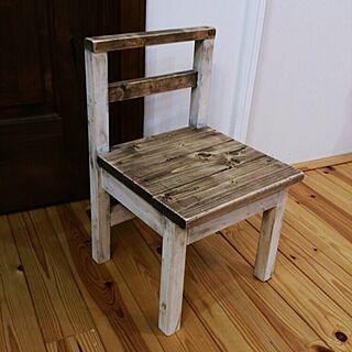 机/バターミルクペイント/オスモカラー/DIY/幼児椅子...などのインテリア実例 - 2015-01-23 20:19:25