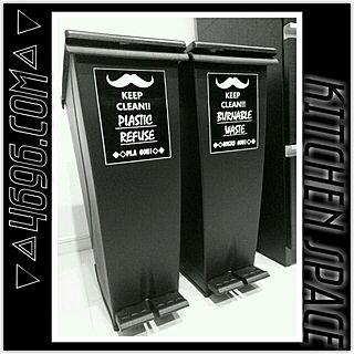 キッチン/ヒゲ/Black×White/オリジナルラベル/白黒...などのインテリア実例 - 2014-03-02 09:18:35
