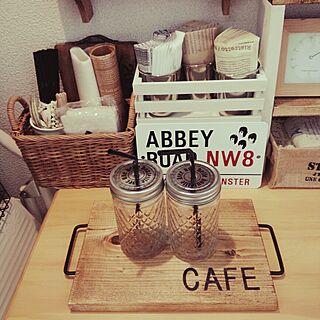 机/cafe風/カフェトレー/カフェコーナー/メイソンジャー風...などのインテリア実例 - 2014-07-28 17:20:54