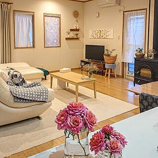部屋全体/植物のある暮らし/薔薇/庭の花を飾る/マリメッコ...などのインテリア実例 - 2019-06-25 20:05:19