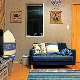 男性の、4LDK、家族住まいの「壁/天井」についてのインテリア実例