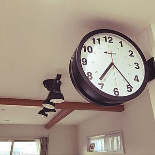 両面時計/ダルトンの時計/男前/カフェ風/リビングのインテリア実例 - 2020-11-15 07:30:25