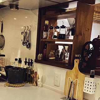 イベント投稿/キッチン/ウォールナット/オイル塗装/初DIYの棚...などのインテリア実例 - 2020-03-28 16:27:42