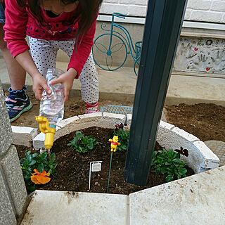 家族暮らし、花壇DIYに関するkanaさんの実例写真