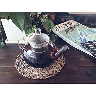 キッチン/紅茶/ティーポット/初投稿/賃貸DIY...などのインテリア実例 - 2017-04-04 18:10:43