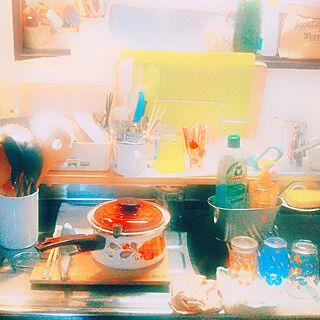 女性家族暮らし、キッチンアイテムに関するsumireさんの実例写真