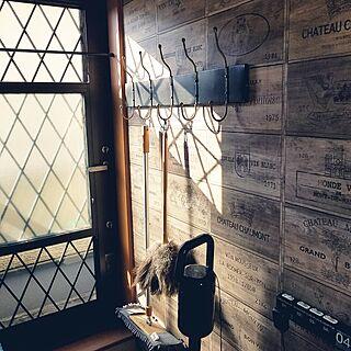 バス/トイレ/DIY/アイアン/壁紙DIY/サンゲツ壁紙...などのインテリア実例 - 2017-07-13 17:48:13