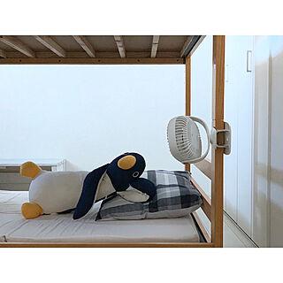 ライト付扇風機/ナチュラルインテリア/クリップ扇風機/卓上扇風機/すっきり暮らしたい...などのインテリア実例 - 2020-06-02 09:07:13