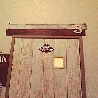 壁/天井/すのこ/再利用/トイレの入り口/ドアリメイク...などのインテリア実例 - 2016-02-21 16:16:16